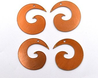 Spiral copper blanks
