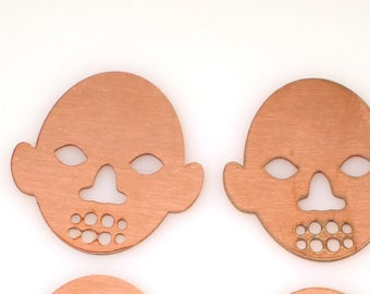 african mask copper blanks