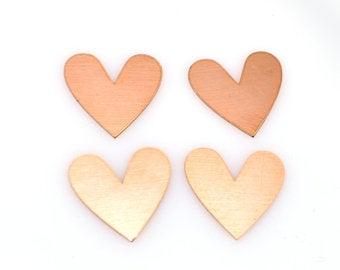 Heart copper blanks