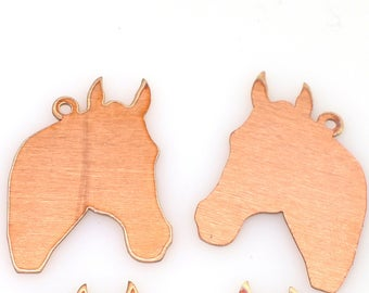 horse copper blanks