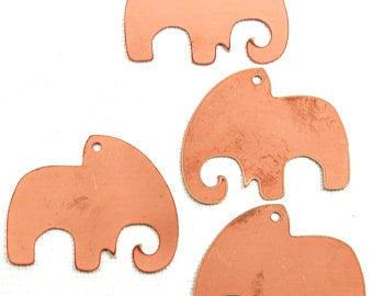 elephant copper blanks